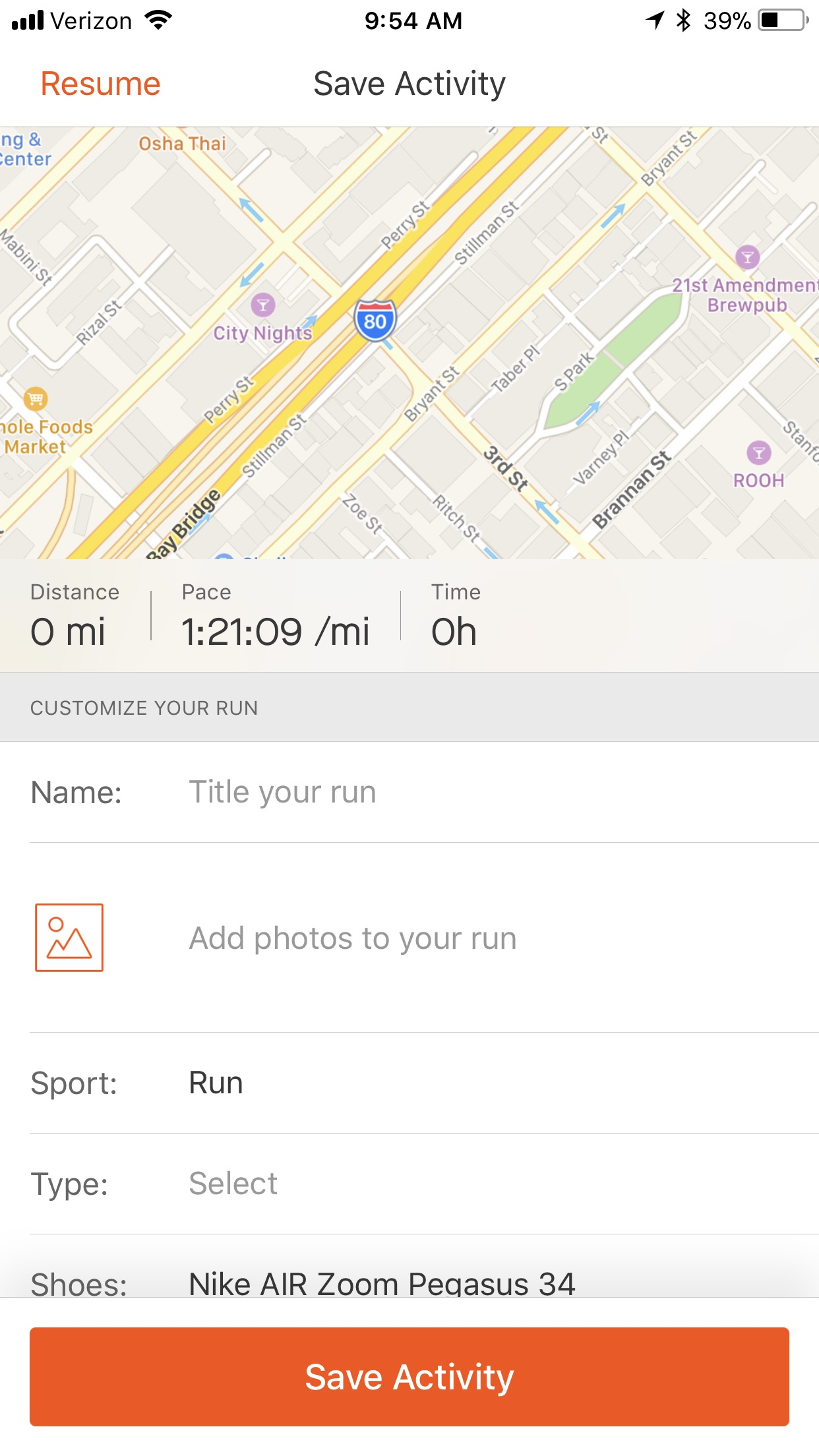 Recording an Activity – Strava Support