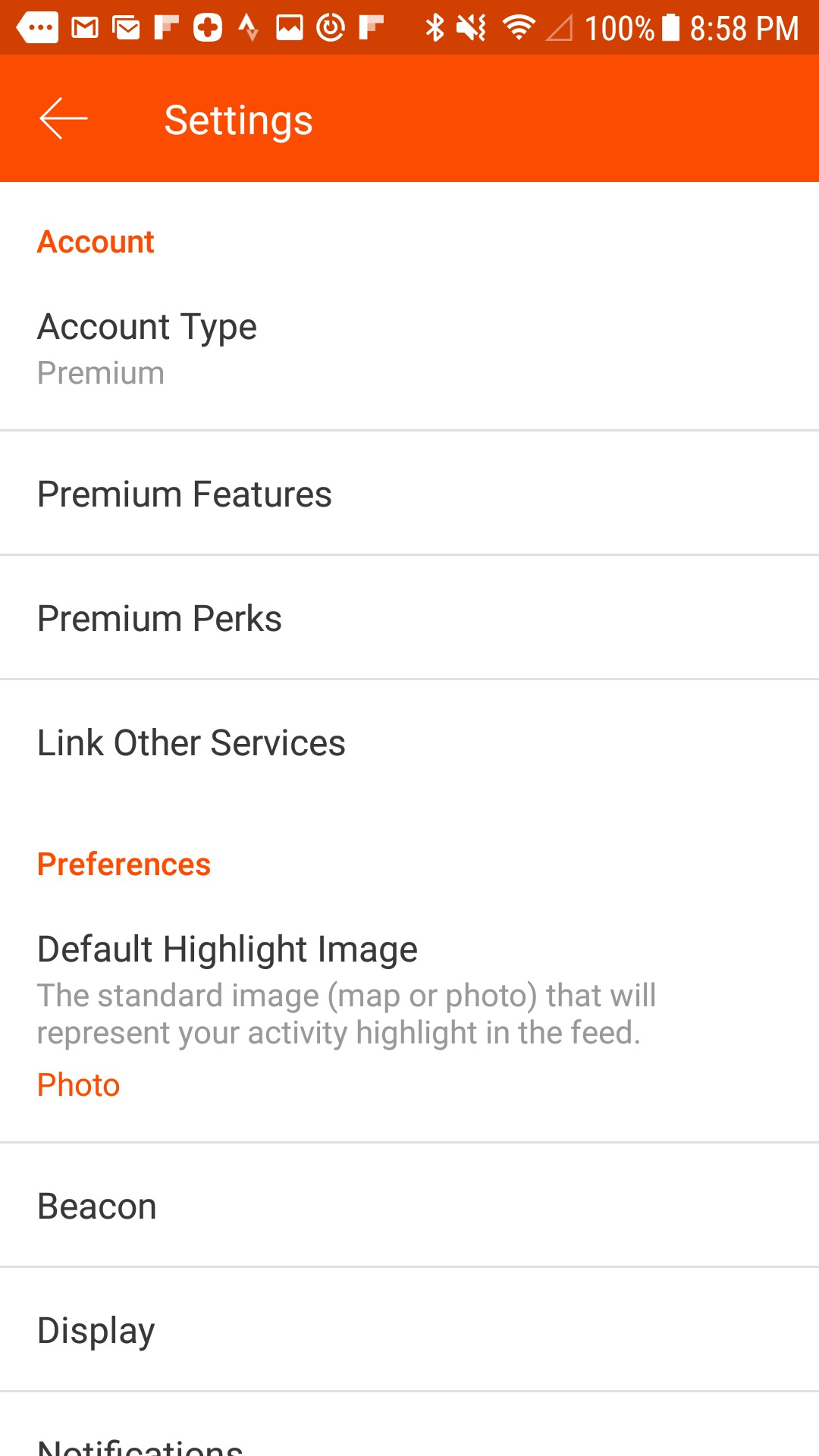 Android App Settings – Strava Support