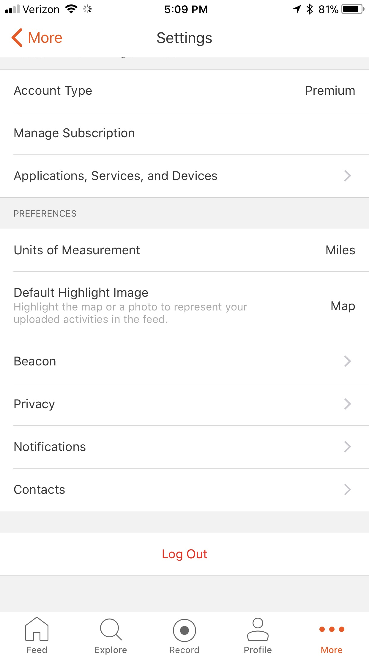 iPhone App Settings – Strava Support