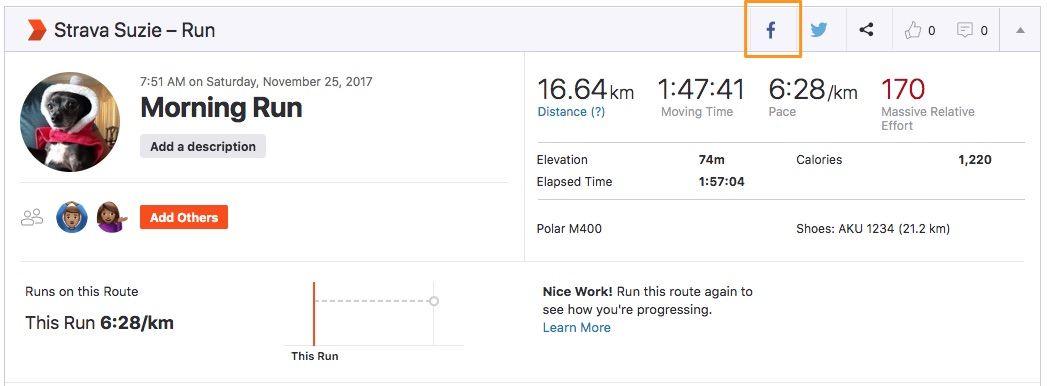 Share activities to Facebook – Strava Support